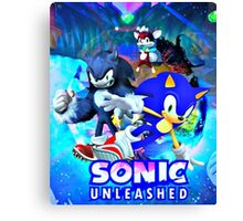 Sonic & Werehog Canvas Print