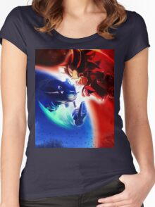 Sonic vs Shadow Women's Fitted Scoop T-Shirt
