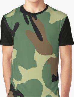 PLA Camo Pattern Graphic T-Shirt