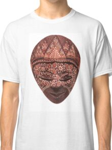 Traditional indonesian mask on a white background Classic T-Shirt