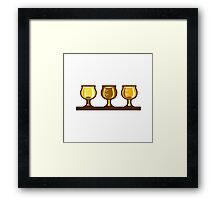 Beer Flight Glass Retro Framed Print