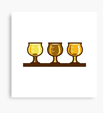 Beer Flight Glass Retro Canvas Print