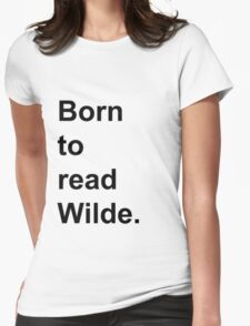 Born to Read Wilde Womens Fitted T-Shirt