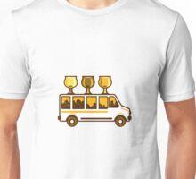 Beer Flight Glass Van Retro Unisex T-Shirt