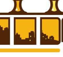 Beer Flight Glass Van Retro Sticker