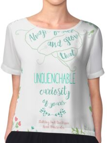Unquenchable Curiosity Chiffon Top