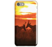 Red Hartebeest - Sun Symmetry - African Wildlife iPhone Case/Skin