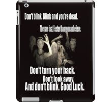 Doctor Who and the weeping angels iPad Case/Skin