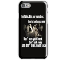 Doctor Who and the weeping angels iPhone Case/Skin