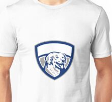 Kuvasz Dog Head Crest Retro Unisex T-Shirt