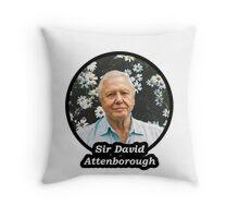 Sir David Attenborough Throw Pillow