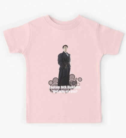 Captain Jack Harkness : Who are you ? Kids Tee