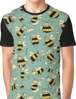 Funny bees, seamless pattern Graphic T-Shirt
