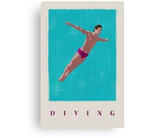 SUMMER GAMES / diving Canvas Print