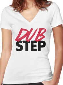 Dirty Dubstep Music Quote Women's Fitted V-Neck T-Shirt