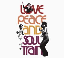 "LOVE PEACE AND SOUL TRAIN "" WHITE"" Baby Tee"