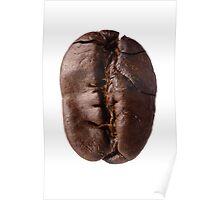 Food: roasted coffee bean, isolated on white background Poster