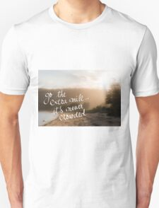 Go The Extra Mile Its Never Crowded message Unisex T-Shirt