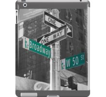 This Way To Broadway iPad Case/Skin