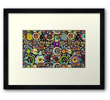 Background mandala Framed Print