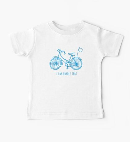 Hipster bicycle - blue Baby Tee