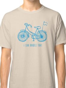 Hipster bicycle - blue Classic T-Shirt
