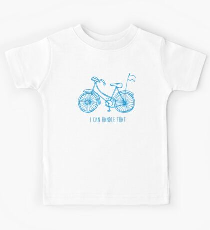 Hipster bicycle - blue Kids Tee