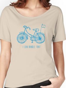 Hipster bicycle - blue Women's Relaxed Fit T-Shirt