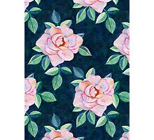 Simple Pink Rose Oil Painting Pattern Photographic Print