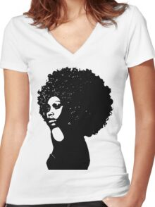 Soulfro Women's Fitted V-Neck T-Shirt