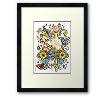 """The Illustrated Alphabet Capital  Y  """"Getting personal"""" Framed Print"""