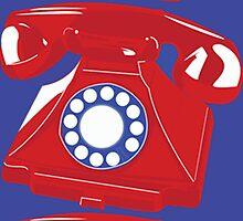 Classic British Telephone by kerriestuff