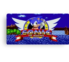 Sonic Retro Canvas Print