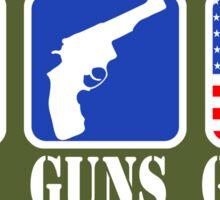 GOD GUNS GLORY Sticker