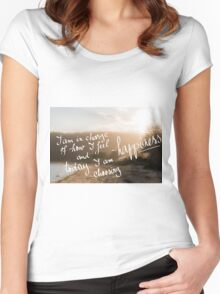 Today I Am Choosing Happiness message Women's Fitted Scoop T-Shirt