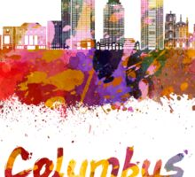 Columbus skyline in watercolor Sticker