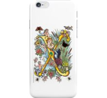 "The Illustrated Alphabet Capital  X  ""Getting personal"" iPhone Case/Skin"