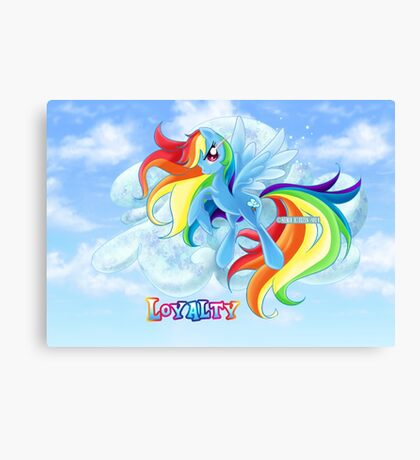 Equestria Elements - The Loyalty Canvas Print