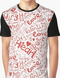 Valentine seamless pattern Graphic T-Shirt