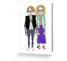 Maureen and David Sourbutts Psychoville inspired design Greeting Card