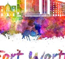 Fort Worth skyline in watercolor Sticker