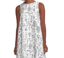 Floral pattern sketch A-Line Dress