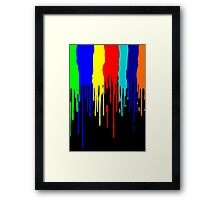 Let the Paint Drip Framed Print