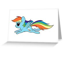 Rainbow Dashing Greeting Card