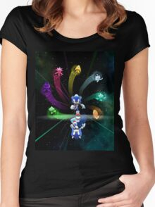 Super Sonic Space Women's Fitted Scoop T-Shirt