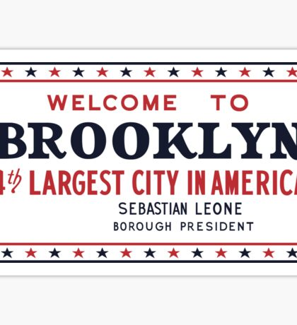 Welcome to Brooklyn Sign, New York Sticker