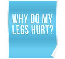 Why Do My Legs Hurt cool t-shirt Poster