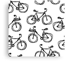 Bicycle sketch, seamless pattern Canvas Print