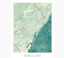 Barcelona Map Blue Vintage Unisex T-Shirt