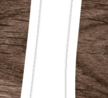 Wood pi symbol sticker Sticker
